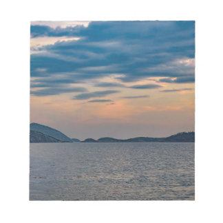 Landscape Scene from Ipanema Beach Rio de Janeiro Notepad