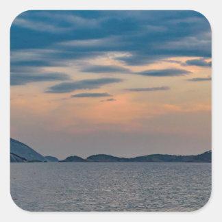 Landscape Scene from Ipanema Beach Rio de Janeiro Square Sticker