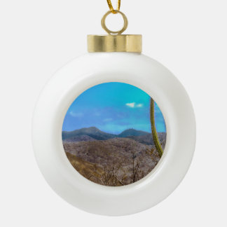 Landscape Scene Machalilla National Park Ecuador Ceramic Ball Christmas Ornament