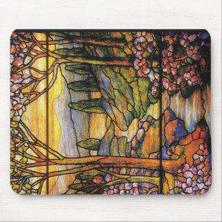 Landscape Stained Glass Art Mouse Pad