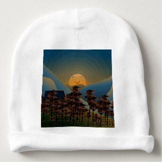 Landscape sunset baby beanie