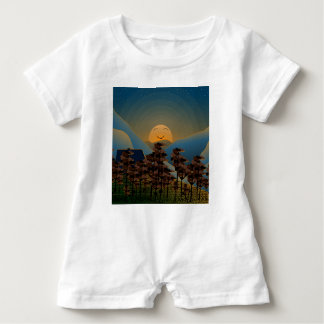 Landscape sunset baby romper
