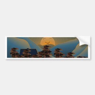 Landscape sunset bumper sticker
