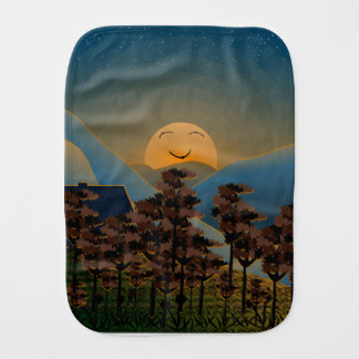Landscape sunset burp cloth