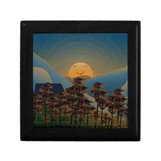 Landscape sunset gift box