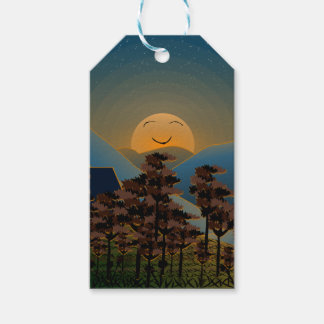 Landscape sunset gift tags