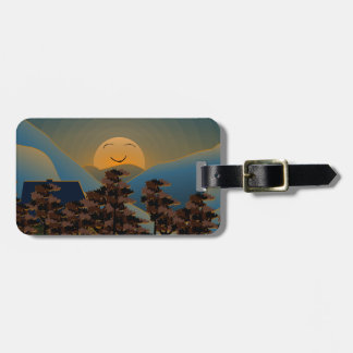 Landscape sunset luggage tag