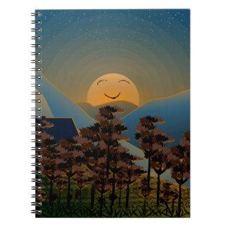 Landscape sunset notebook
