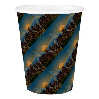 Landscape sunset paper cup