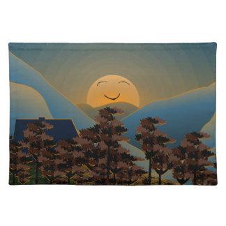 Landscape sunset placemat
