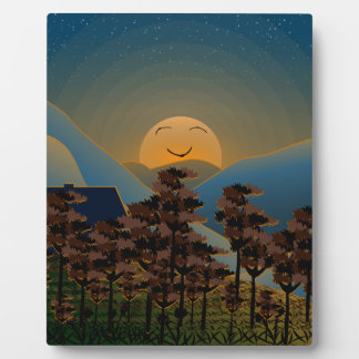 Landscape sunset plaque