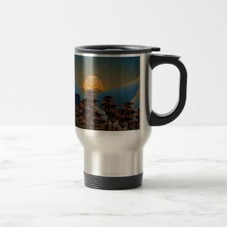 Landscape sunset travel mug