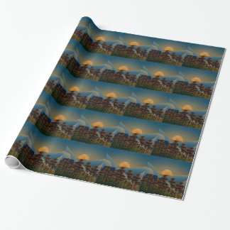 Landscape sunset wrapping paper