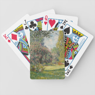 Landscape- The Parc Monceau - Claude Monet Bicycle Playing Cards