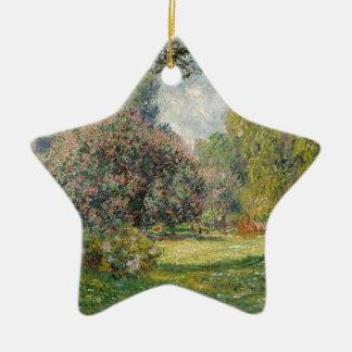 Landscape- The Parc Monceau - Claude Monet Ceramic Ornament