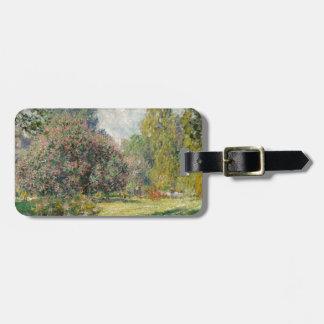 Landscape- The Parc Monceau - Claude Monet Luggage Tag