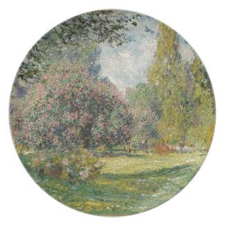 Landscape- The Parc Monceau - Claude Monet Plate