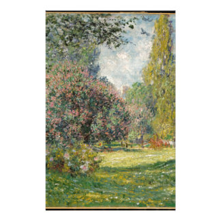 Landscape- The Parc Monceau - Claude Monet Stationery