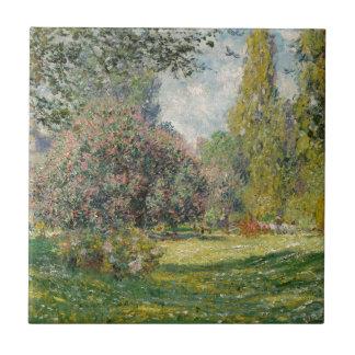 Landscape- The Parc Monceau - Claude Monet Tile