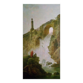 Landscape, The Waterfall Poster