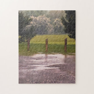 Landscape Tree in rain Puzzle