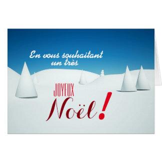 Landscape under snow 3D art Christmas card