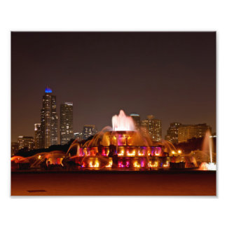 Landscape View of Buckingham Fountain Photographic Print