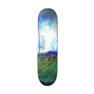 Landscape view skate board deck