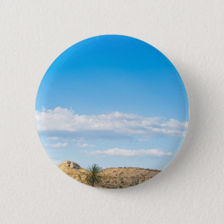 Landscape view to the mountain and sky 2 inch round button