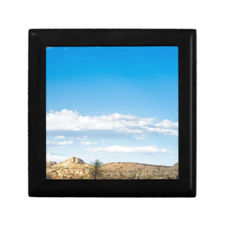Landscape view to the mountain and sky gift box