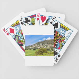 Landscape village with houses in Greek valley Bicycle Playing Cards