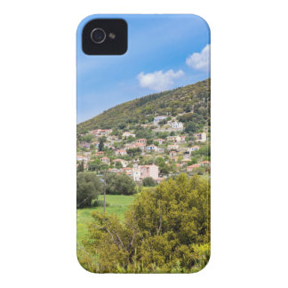 Landscape village with houses in Greek valley Case-Mate iPhone 4 Case