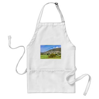 Landscape village with houses in Greek valley Standard Apron
