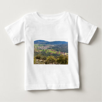 Landscape village with houses in valley of Greece Baby T-Shirt