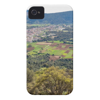 Landscape village with houses in valley of Greece iPhone 4 Case-Mate Case