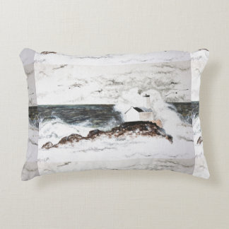 landscape watercolour storm headlight clouds sea decorative pillow