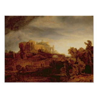 Landscape with a Chateau Print