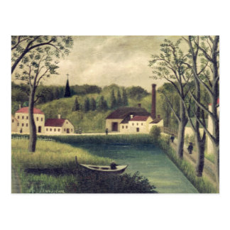 Landscape with a Fisherman, after 1886 Postcard