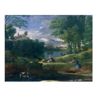 Landscape with a Man killed by a Snake, c.1648 Postcard