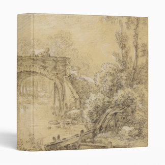 Landscape with a Rustic Bridge 3 Ring Binders