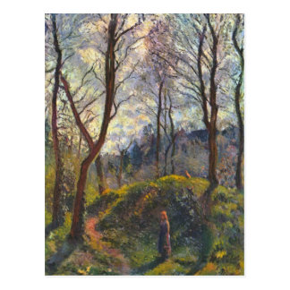 Landscape with big trees by Camille Pissarro Postcard