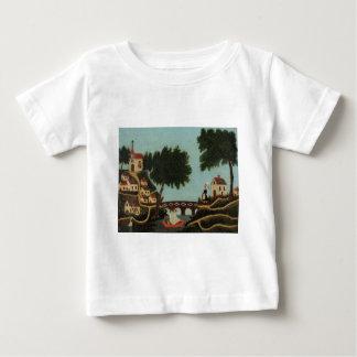 Landscape with Bridge by Henri Rousseau Baby T-Shirt