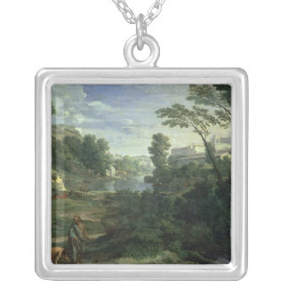 Landscape with Diogenes, 1648 Silver Plated Necklace