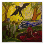 Landscape with Dragon by Genevieve & John Art Photo