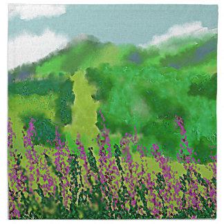 Landscape with Flowers Art Napkin