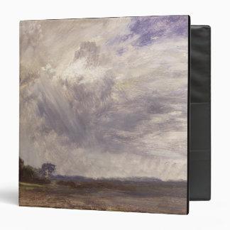 Landscape with Grey Windy Sky, c.1821-30 (oil on p Vinyl Binder