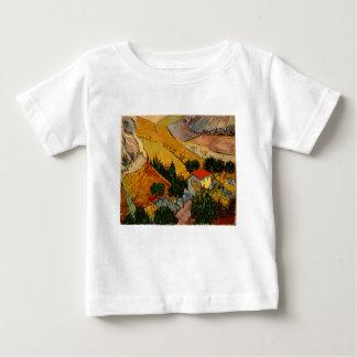 Landscape with House & Ploughman, Vincent Van Gogh Baby T-Shirt