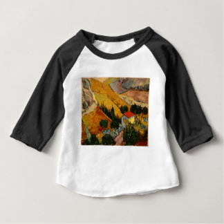 Landscape with House & Ploughman, Vincent Van Gogh Baby T-Shirt