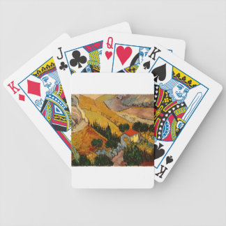 Landscape with House & Ploughman, Vincent Van Gogh Bicycle Playing Cards