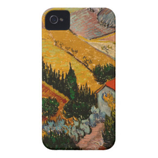 Landscape with House & Ploughman, Vincent Van Gogh Case-Mate iPhone 4 Cases